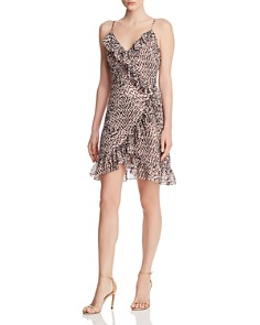 Lucy Paris - Cynthia Leopard-Print Ruffled Wrap Dress - 100% Exclusive