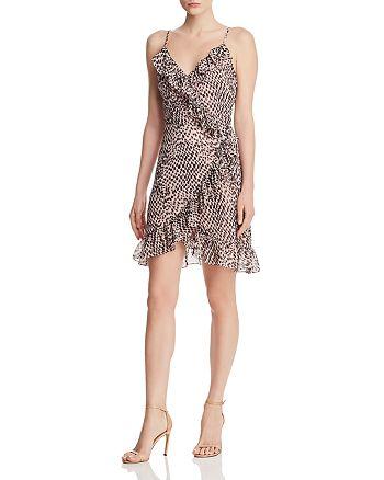 Lucy Paris - Cynthia Leopard-Print Ruffled Wrap Dress - 100% Exclusive