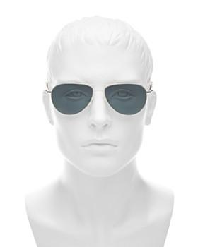 Oliver Peoples - Men's Benedict Brow Bar Aviator Sunglasses, 59mm