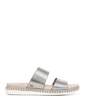 Sam Edelman - Women's Asha Studded Leather Slide Sandals