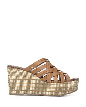 Sam Edelman - Women's Devon Woven Wedge Heel Platform Sandals