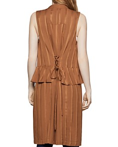 BCBGENERATION - Lace-Up Long Peplum Vest