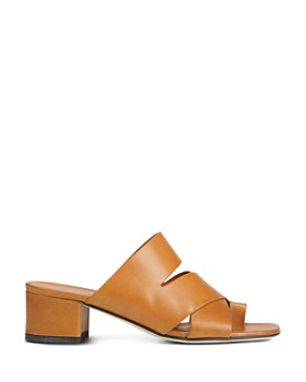 Via Spiga - Women's Fae Leather Block Heel Sandals