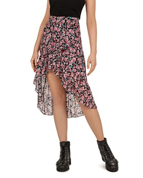 6a70ac8d3f2 The Kooples - Candy Ruffled Floral-Print Skirt ...