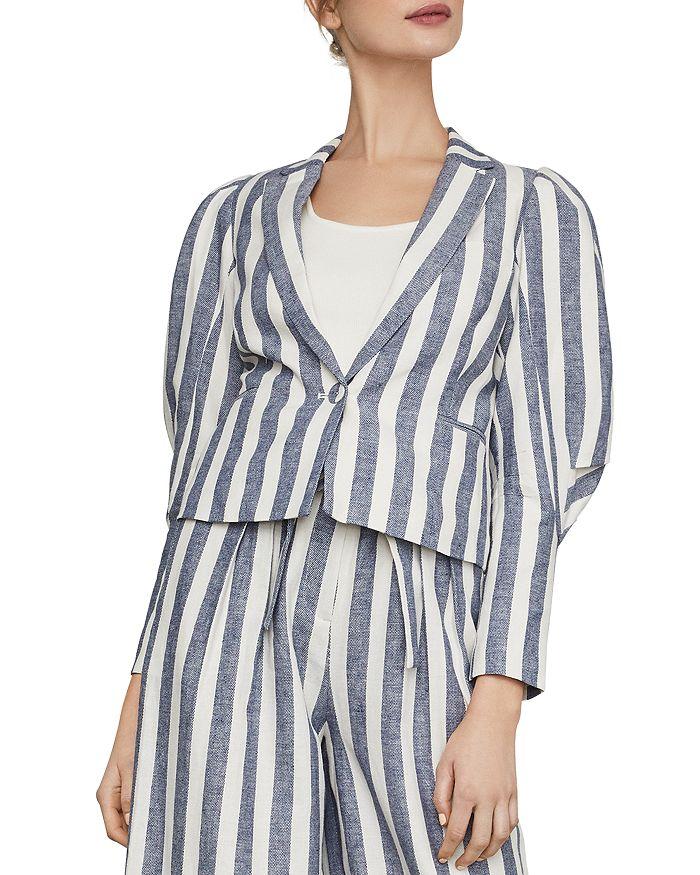 BCBGMAXAZRIA - Puff-Sleeve Striped Blazer