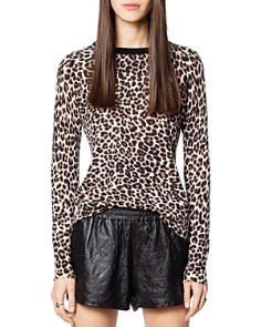 Zadig & Voltaire - Miss CP Leopard-Printed Cashmere Sweater