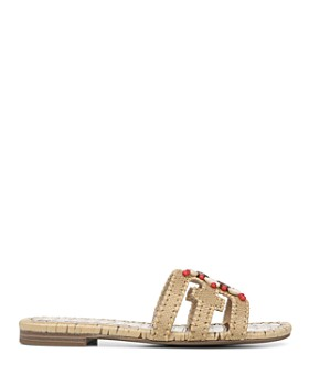 Sam Edelman - Women's Bradie Beaded Raffia Slide Sandals