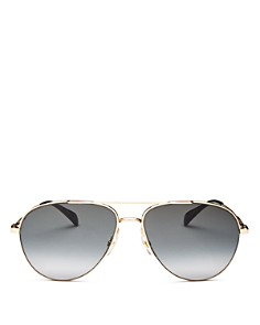 Givenchy - Women's Brow Bar Aviator Sunglasses, 69mm