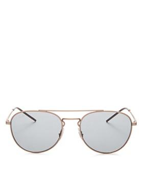 Ray-Ban - Unisex Brow Bar Aviator Sunglasses, 55mm