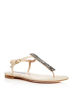 Stuart Weitzman - Women's Splendor Glitter Thong Sandals