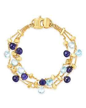 Marco Bicego - 18K Yellow Gold Paradise Iolite & Blue Topaz Beaded Bracelet - 100% Exclusive