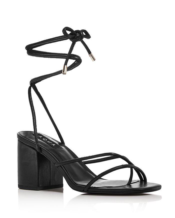 AQUA - Women's Kate Ankle Strap Block Heel Sandals - 100% Exclusive