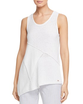 DKNY - Mixed-Media Patchwork Sweater Tank