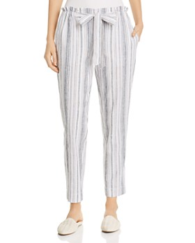 c9463b0fa9 BeachLunchLounge - Striped Tapered-Leg Pants ...