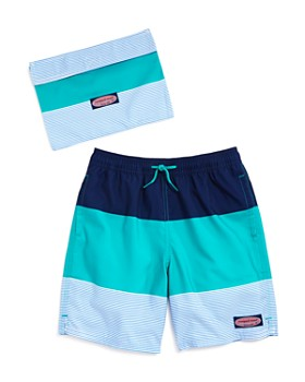 2a8e12f540cb2 Vineyard Vines - Boys' Pieced-Stripe Chappy Swim Trunks - Little Kid, ...
