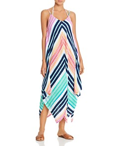 Tommy Bahama - Rainbow Chevron Maxi Scarf Dress Swim Cover-Up