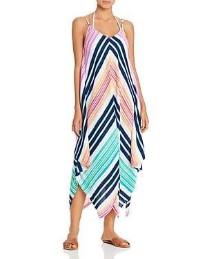 Tommy Bahama Rainbow Chevron Maxi Scarf Dress Swim Cover-Up