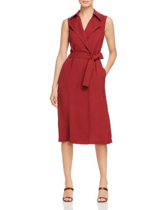 Florence Sleeveless Belted Trench Dress by Lafayette 148 New York