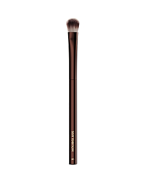 What It Is: The Hourglass No. 3 All Over Eye Shadow brush seamlessly applies, layers and blends powder eye shadow over the entire lid. What It Does: - Features Peta-approved, high-grade, ultra-soft Taklon bristles - Weighted metal handle provides control for effortless blending and application - May be used to apply liquid, cream or powder products - Taklon is an excellent alternative for those who suffer from allergies to animal hair - Taklon is a more hygienic alternative to animal hair How To