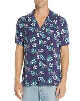 JACHS NY - Short-Sleeve Floral-Print Classic Fit Shirt - 100% Exclusive