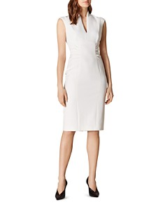 KAREN MILLEN - Gathered-Waist Sheath Dress