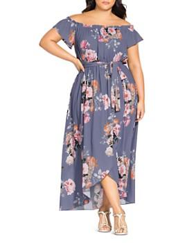 da9e27462c0 City Chic Plus - Florence Floral Off-the-Shoulder Maxi Dress ...