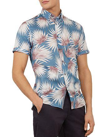 Ted Baker - Hedgeog Palm Print Slim Fit Shirt