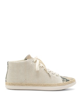 Dolce Vita - Women's Akello Canvas & Embossed Leather Sneakers