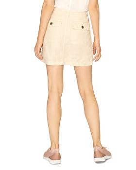 Sanctuary - Linen Button-Front Mini Skirt