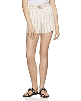 BCBGENERATION - Paperbag-Waist Striped Shorts - 100% Exclusive