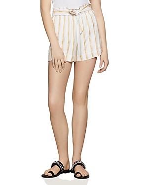Bcbgeneration Paperbag-Waist Striped Shorts - 100% Exclusive