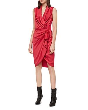 Allsaints Dresses CANCITY RUCHED WRAP DRESS