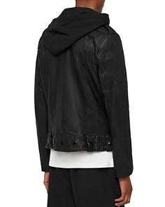 ALLSAINTS - Woodley Crinkled Leather Biker Jacket
