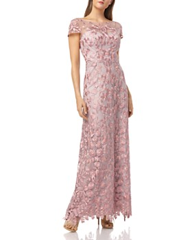 JS Collections - Embroidered Illusion Yoke Gown