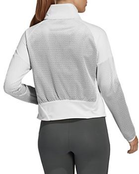 Adidas - Mesh-Panel Funnel-Neck Jacket