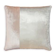 "Kevin O'Brien Studio - Color-Block Velvet Decorative Pillow, 22"" x 22"""