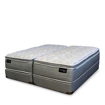 Asteria - Daria Euro Pillow Top California King Mattress & Split Box Spring Set - 100% Exclusive
