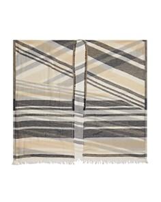 Echo - Frayed Striped Ruana