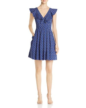 kate spade new york - Geo-Dot Flounce Dress