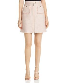 KARL LAGERFELD Paris - Tweed Zip-Front Skirt