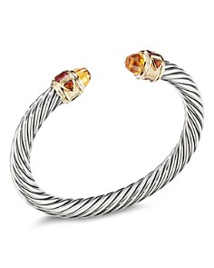 David Yurman - Sterling Silver & 14K Yellow Gold Renaissance Bracelet with Citrine