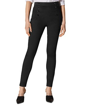 KAREN MILLEN - Button Detail Skinny Jeans in Black