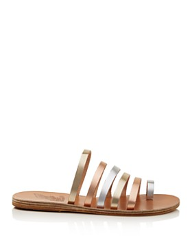 Ancient Greek Sandals - Women's Niki Metallic Leather Sandals
