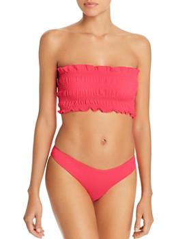 cfbab2e147ec9 Peixoto - Tay Smocked Bandeau Bikini Top & Bella Full Bikini Bottom
