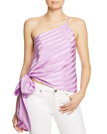 Michelle Mason - Silk One-Shoulder Top