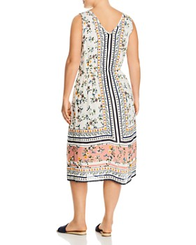 Lucky Brand Plus - Floral-Print Midi Dress