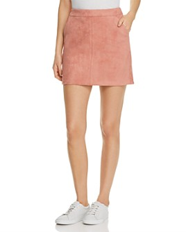 Vero Moda - Donna Faux Suede Mini Skirt