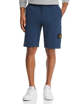 dedd6dd593bd Stone Island - Garment-Dyed Fleece Shorts ...