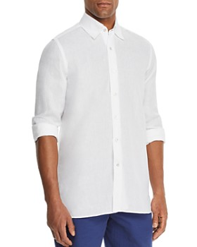 Canali - Linen Regular Fit Sport Shirt