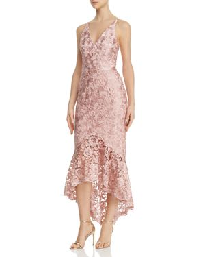 AVERY G | Avery G Shimmery Floral-Embroidered Lace Dress | Goxip